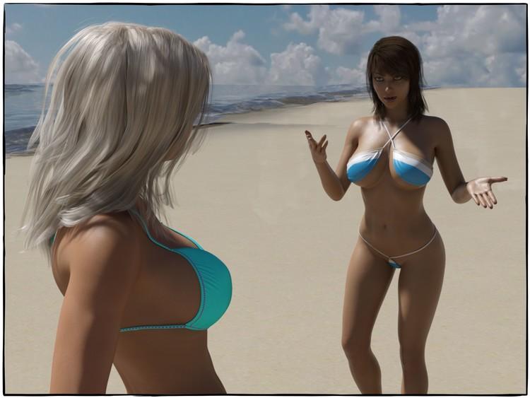 lesbianas en bikini