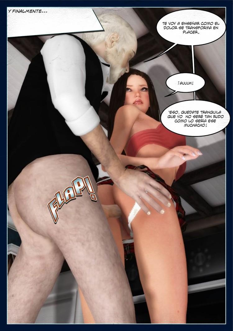 sexo del abuelo con la nieta