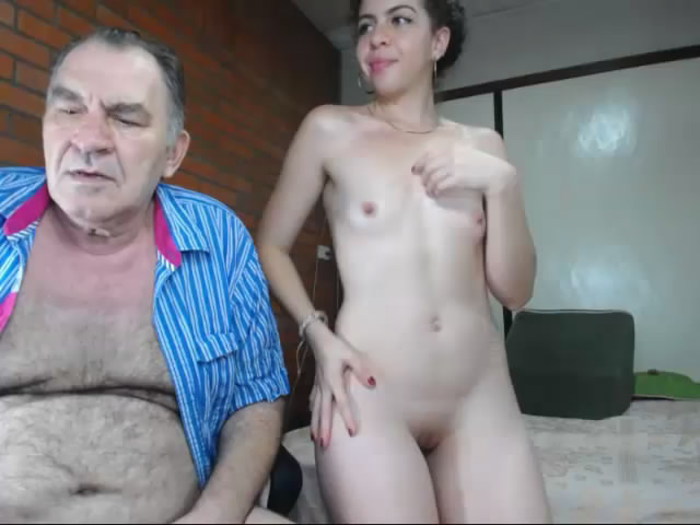 with my grandfather on webcam