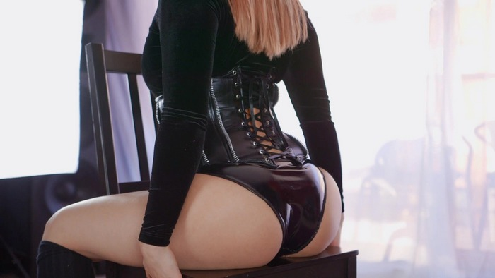 Mina - Black Velvet and PVC Panties [FullHD 1080p]