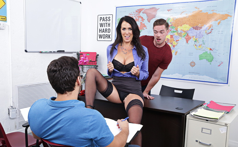 NaughtyAmerica: (Reagan Foxx) - My First Sex Teacher [SD / 241 MB]