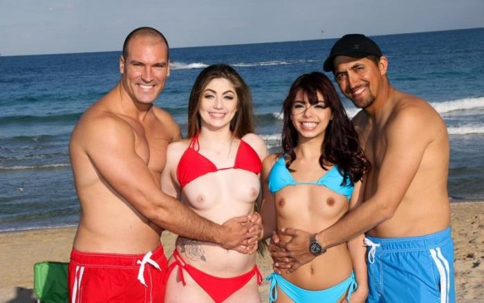 Gina Valentina And Kobi Brian ~ Beach Bait And Switch 2 ~ DaughterSwap ~ FullHD 1080p