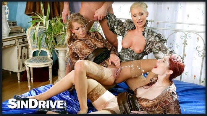 Adel Sunshine, Vanessa, Kate Gold - Watch Us Pee And Suck And Fuck And Romp And Stomp!!! ... Because, A Pissy Party Killed Nobody... [HD 720p] - SinDrive