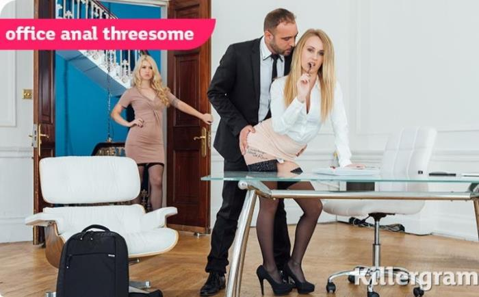 Misha Cross,Carmel Anderson - Office Anal Threesome [HD 720p] - Killergram