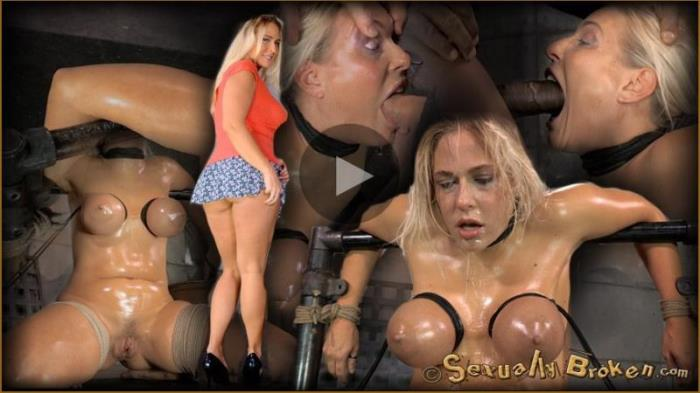 SexuallyBroken: Angel Allwood - Epic deepthroat done by busty blonde Angel Allwood, strictly bound and facefucked by 2 cocks! (HD/720p/818.7 Mb)