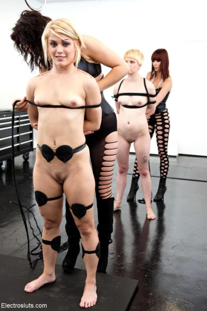 Bobbi Starr, Maitresse Madeline, Ash Hollywood, Alani Pi ~ Break Down Two Blonde Sluts LIVE in the Brand ~ ElectroSluts/Kink ~ SD 540p