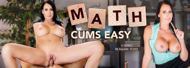 VRBangers.com - Reagan Foxx- Math Cums Easy [2019 UltraHD 2K] (Big Tits, Blowjob, Brunette, Cowgirl, Deepthroat, Doggy, Masturbation, MILF, Shaved Pussy, Virtual Reality, VR, 3d)