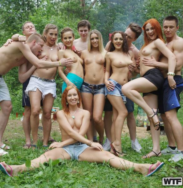 Penny, Sabrina, Eva Berder, Jenny, Rita-Moor, Dominika - Filthy college sluts turn an outdoor party into wild fuck fest, part 1 (2019/HD)