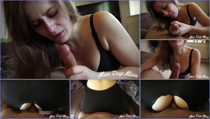 PornHub.com - Miss Deep Misia - Cum on her Leggings - Titfuck with Bra Spit Face [FullHD 1080p]