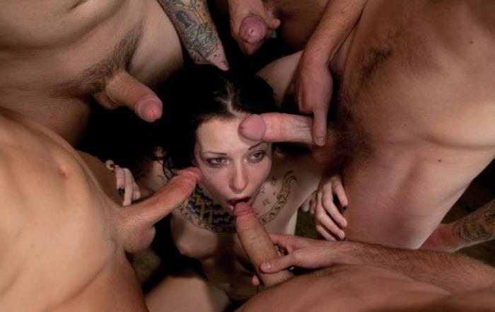 BoundGangBangs/Kink: Aria Aspen - Tattooed Hottie is Made to Submit to Five Guys [SD 540p] (547.61 Mb)