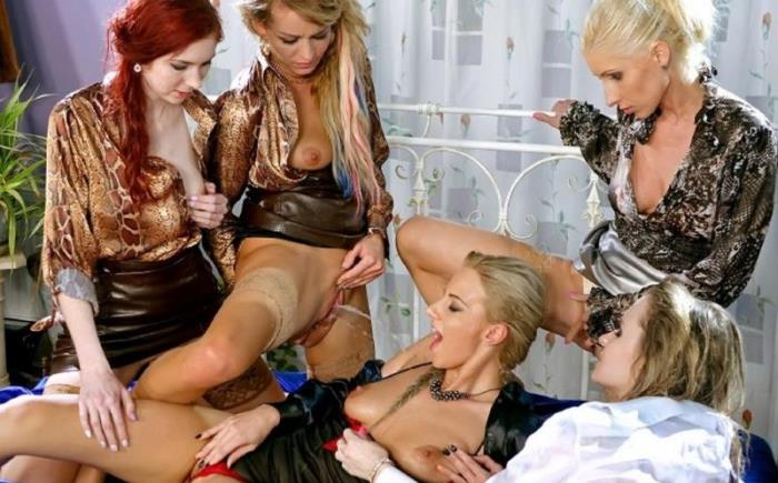 Adel Sunshine, Vanessa, Angel Piaf, Nathaly Cherie, Kate Gold - The Golden Shower Power Hour: 2 Denim/Silk-Clad Misfits On 3 Piss Soaked Hardcore Lesbians [HD 720p] - SinDrive