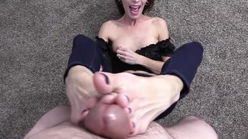 Wife crazy footjobs