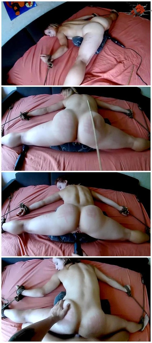 Tied Bed Fucked Stockings
