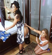 Gina Valentina & Kate Linn-Try This One On