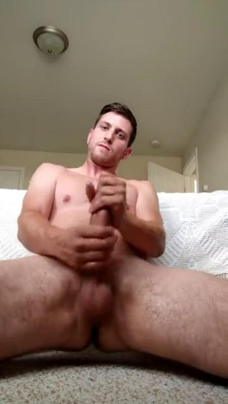 KG - Nathan, handsome hetero shows his cock during a webcam session