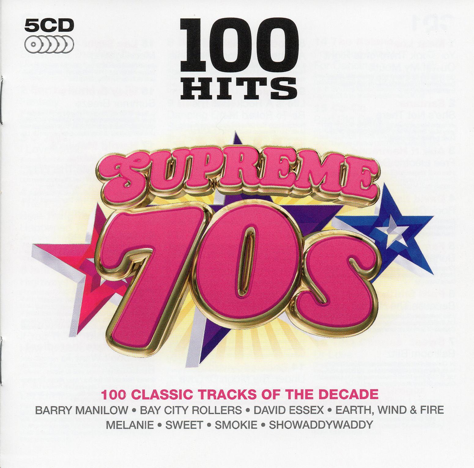 VA - 100 Hits - Supreme 70s [5CD] (2014) Mp3 320 Kbps | DOWNLOAD