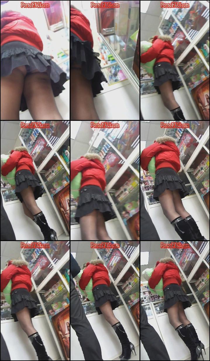 Office hidden camera upskirt stocking sex