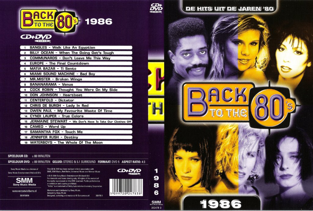 Back To The 80's 1986 (2004) VHS-DVD5 -ENG