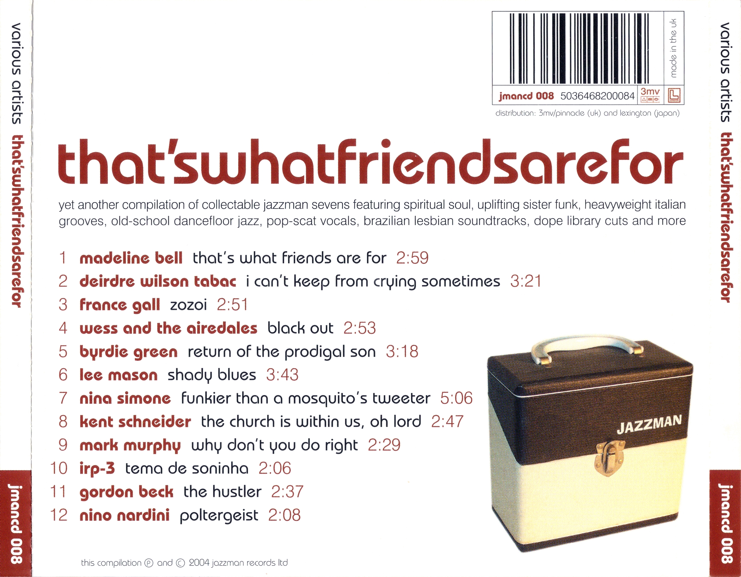 Download Va Thats What Friends Are For Jmancd008 Cd 2004 Leb Int Freemusicdl Club