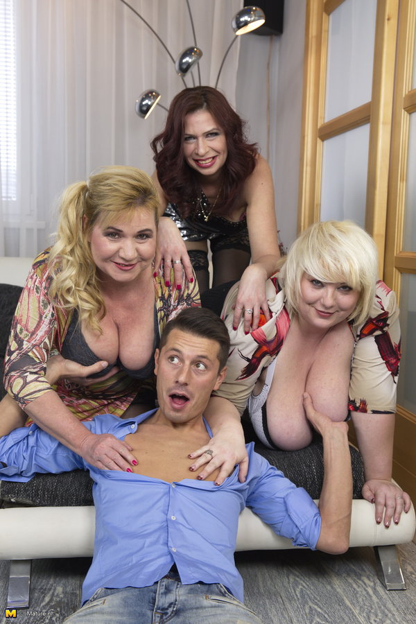BBW Girl Halina K., Kirsi, Charlena in Four Fuck As One [HD - 720p - 1.19 Gb] - Mature