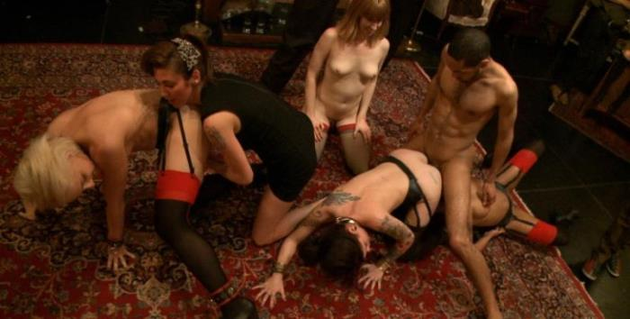 Kink present Ebony Girl Princess Donna Dolore, Dylan, Krysta Kaos, Skin Diamond and Mallory Malone - Squirt Festival: an all slaves on deck celebration of squirt with Princess Donna (2019/HD/720p/1.75 Gb)