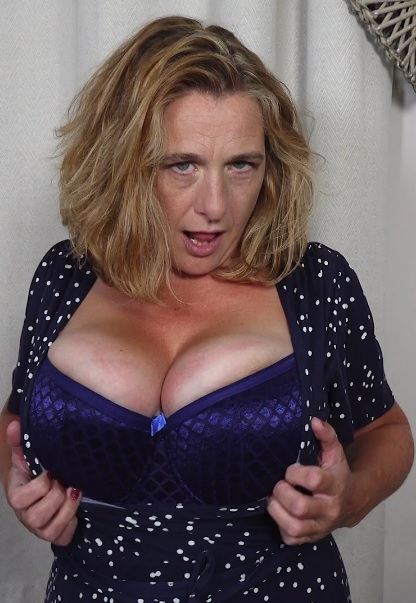British big breasted lady fingering herself