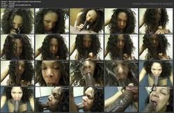 Black Whore Chokes On Massive Ebony Dick