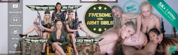 Fivesome With Army Girls - Angel Wicky, Lucy Heart, May Thai, Selvaggia Babe [CzechVR] (FullHD 1080p)