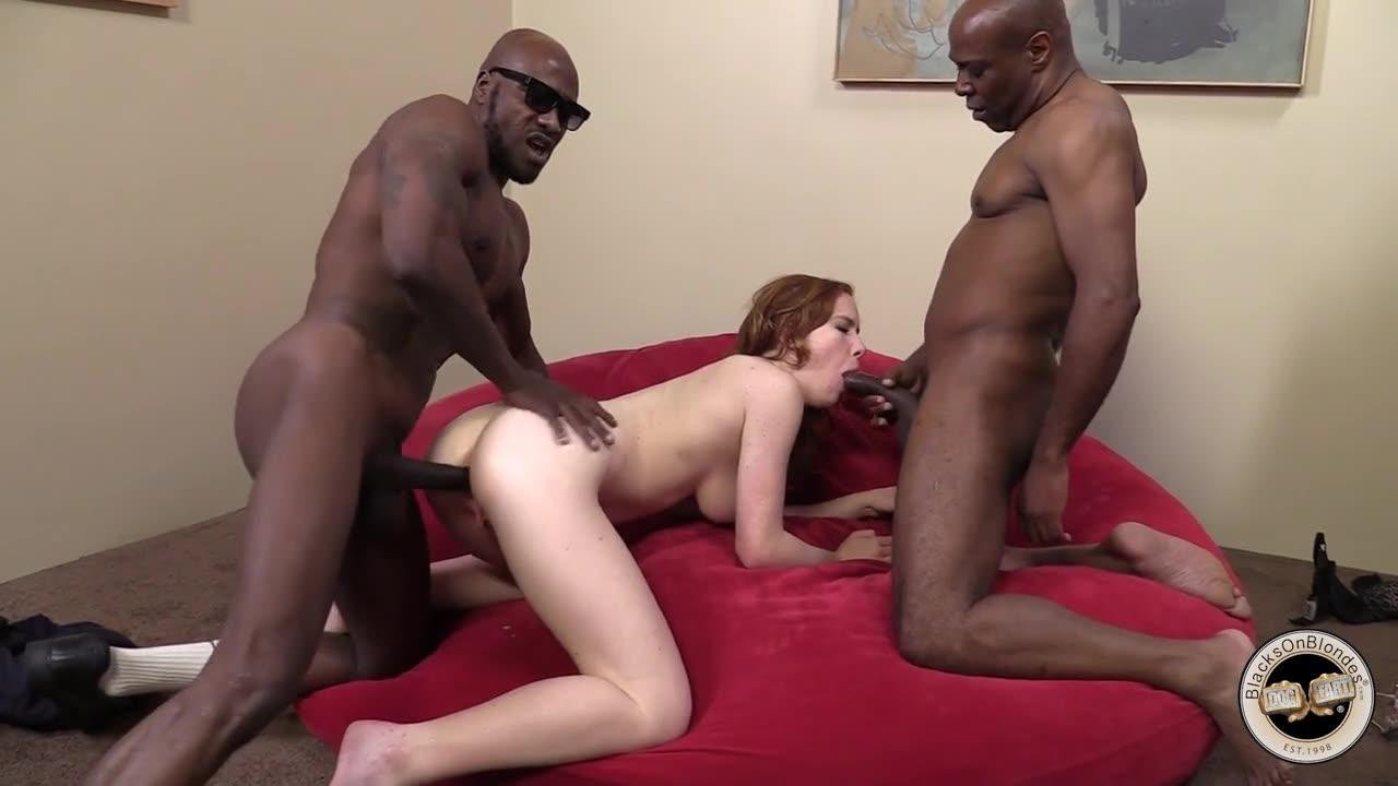 Ebony interracial mmf