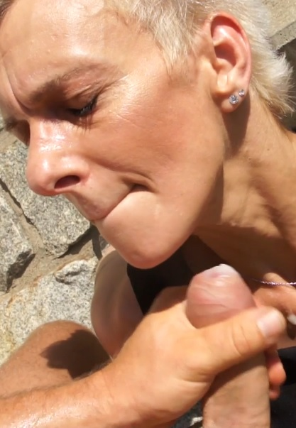 Old Street Whore Getting Fucked Outdoors