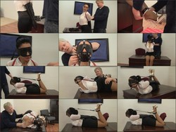 Leather Hogtie for the Boss's Pleasure