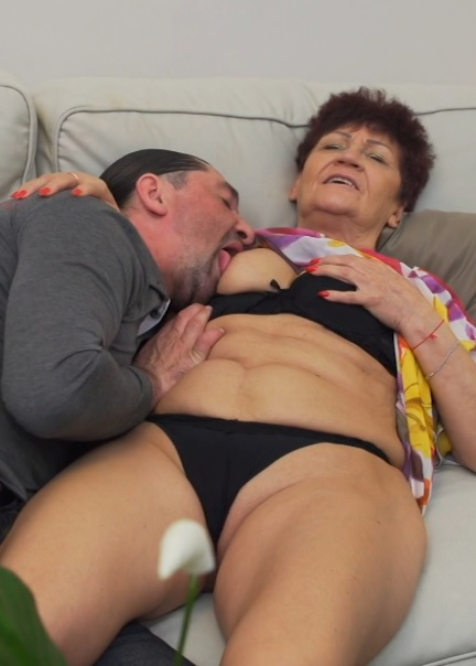 Mature couple having sex and let you in on their bed adventures