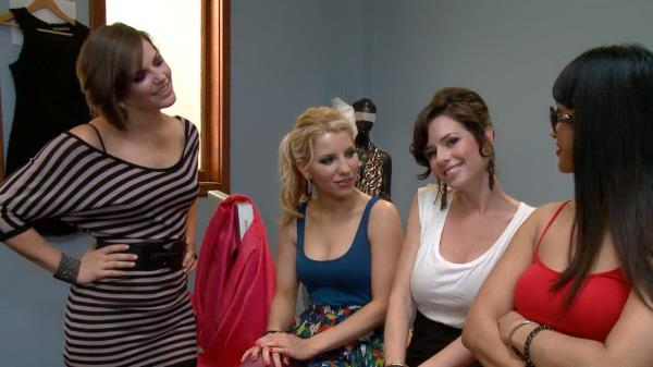 DragonLily, Bobbi Starr, Ashley Fires and Veronica Avluv - High fashion whore [HD 720p] 2019
