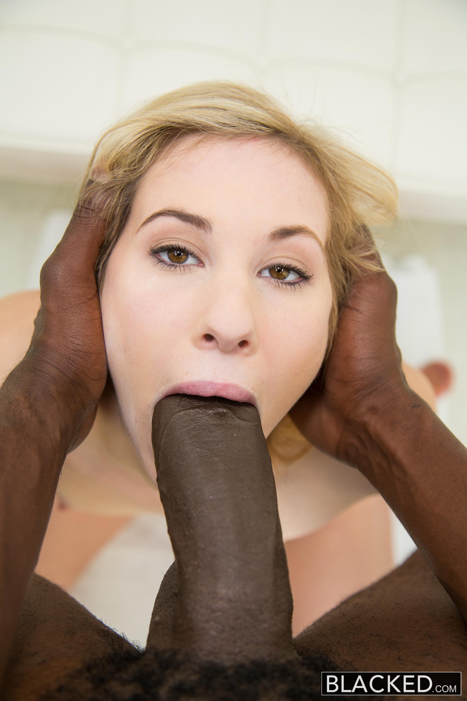 White girl sucks big black dick