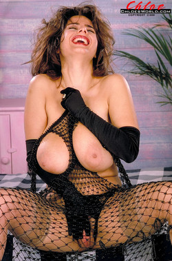 Chloe Vevrier - Black Gloves