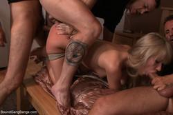 Sasha Rose - Hot Little Blonde Tied up and Gang