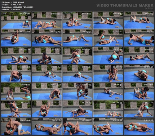 FM Muscly Girl Kyra Dominates Sebastian In The Ring  / Wrestling clip #2029