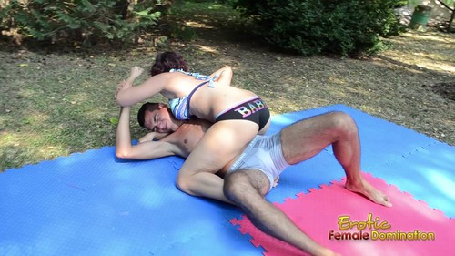 FM Orsi And Sebastian Wrestle In The Yard