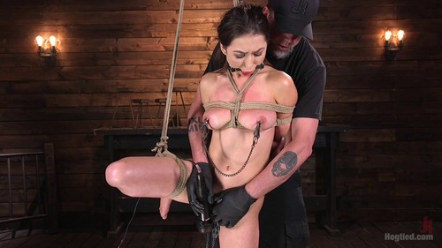 All Natural Bondage Slut Endures Torment and Suffering with Squirting Orgasms