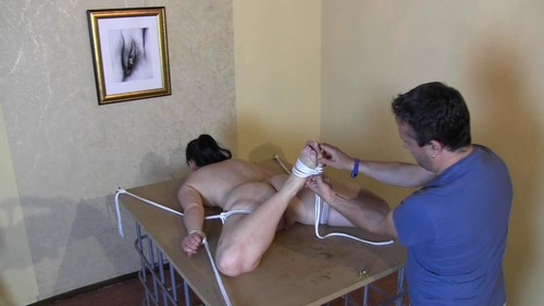Hogtie And Pussy torture