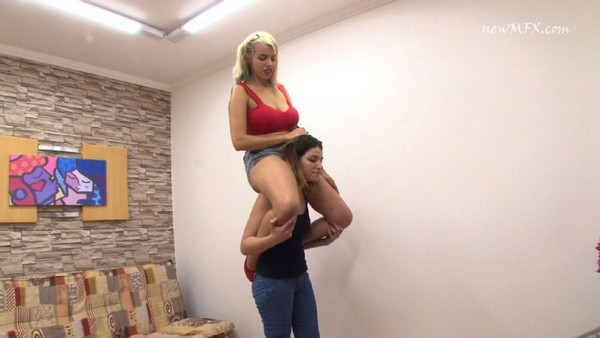 Femdom lift carry humiliation