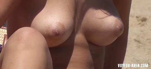 Topless beach Voyeur 128