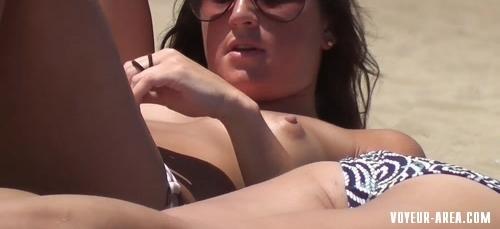 Topless beach Voyeur 129
