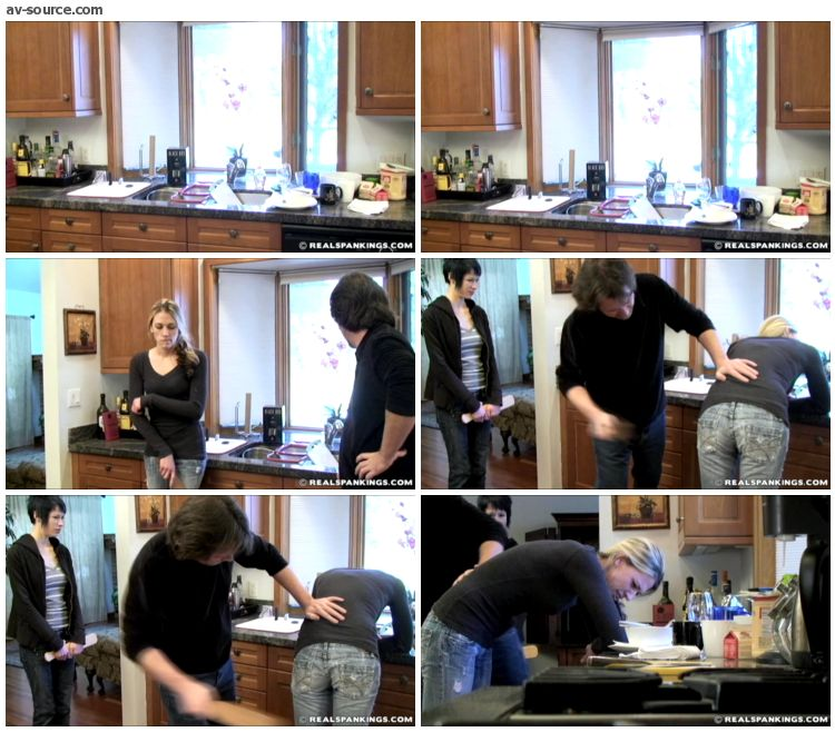 Monica - Monica and Lila Paddled for a Messy Kitchen Part 1 of 2