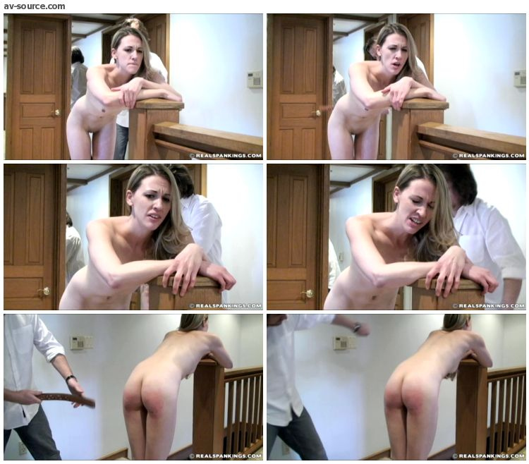 Monica - Frankie and Monica Spanked Naked in the Hallway Part 2