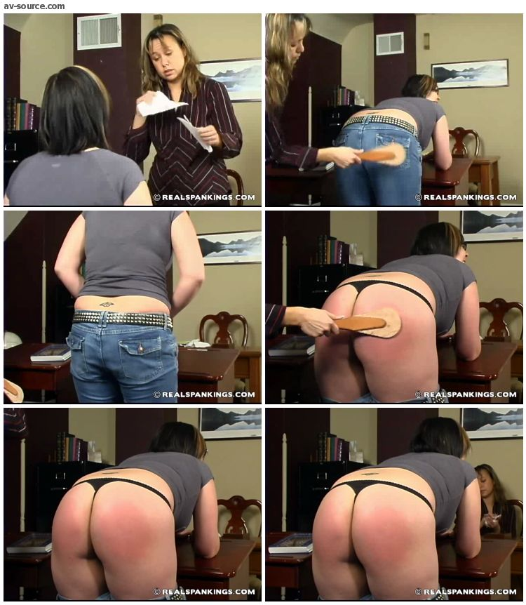 Isabel - Slacking Off In Class Earns Isabel A Spanking 1 - RealSpankings