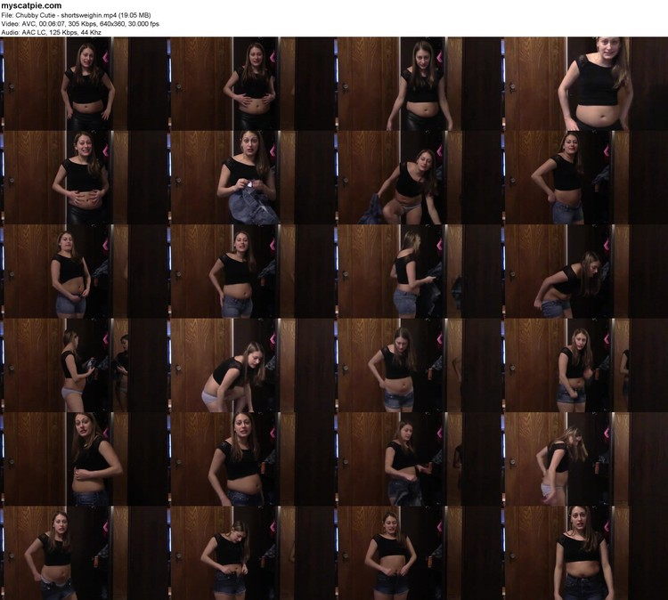 Chubby Cutie - Shortsweighin (mp4, 360p, 19.05 Mb)