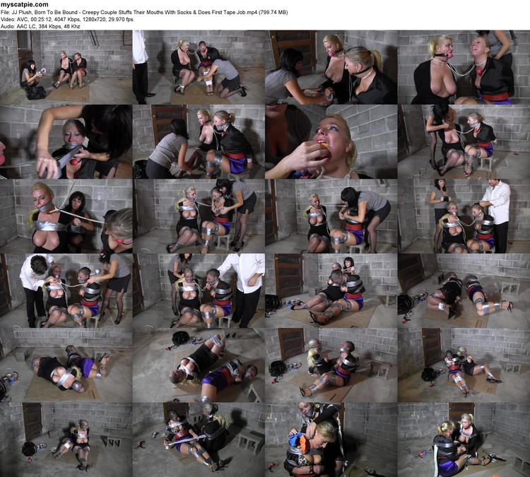 Jj Plush, Born To Be Bound - Creepy Couple Stuffs Their Mouths With Socks & Does First Tape Job (mp4, 720p, 799.74 Mb)