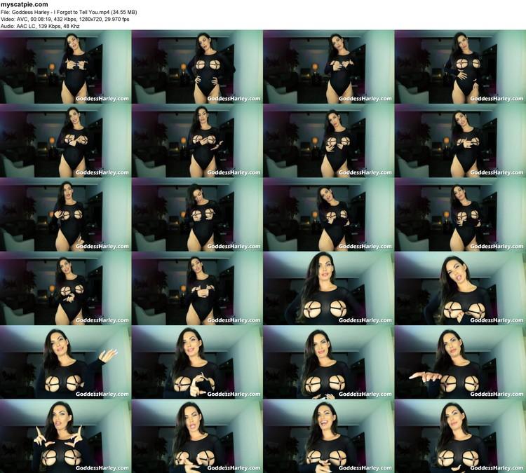 Goddess Harley - I Forgot To Tell You (mp4, 720p, 34.55 Mb)
