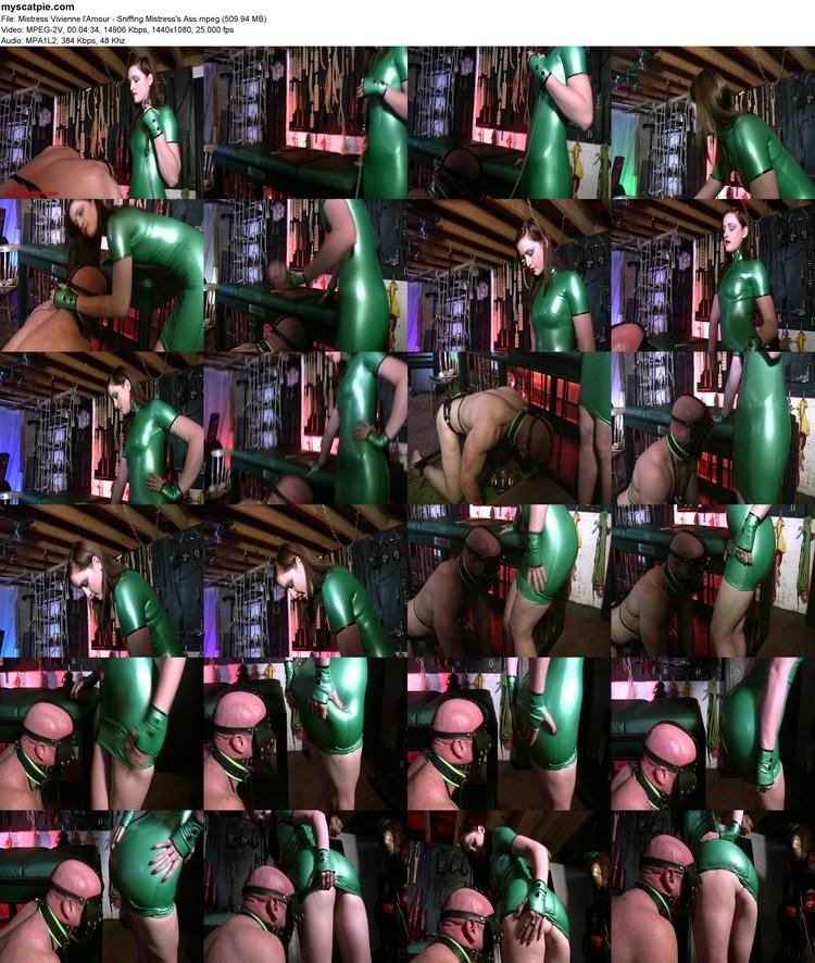 Mistress Vivienne L'amour - Sniffing Mistress's Ass (mpeg, 1080p, 509.94 Mb)